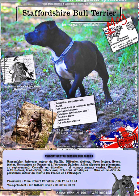 Mag 1 - Octobre 2010 - Spécialisé Staffordshire Bull Terrier